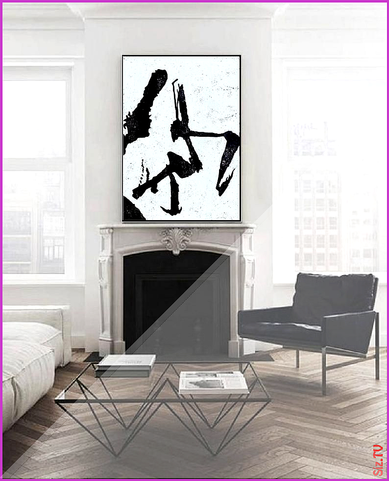 Large Black and White Minimalist Painting Canvas Original Art Abstract Painting Modern Art Large Black and White Minimalist Painting Canvas Original Art Abstract Painting...