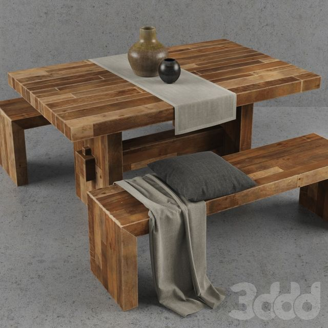 West Elm Emmerson Dining Table Set Visual Pinterest Reclaimed - West elm emmerson coffee table