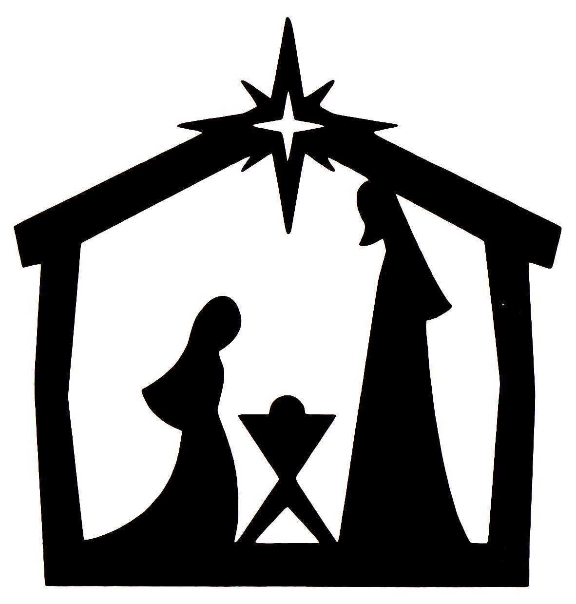 Black And White Nativity Silhouette At Nativity Silhouette Nativity Scene Silhouette Silhouette Christmas