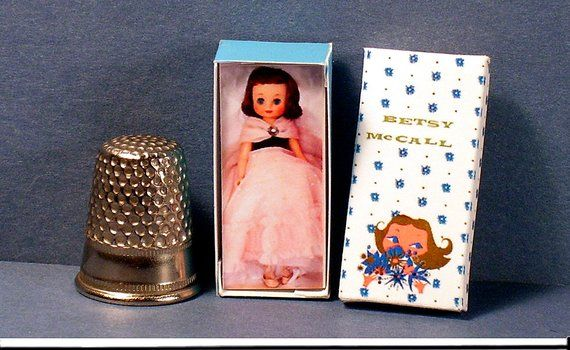 Betsy McCall Doll Box  -  Dollhouse Miniature - 1:12 scale - Dollhouse Accessory - 1950s retro Dollhouse girl nursery toy #dollhouseaccessories