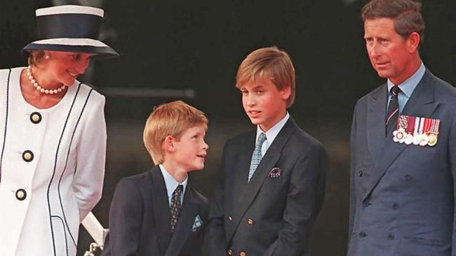 Princess Diana with Princes Harry, William and Charles in August 1995. AFP Source: AFP