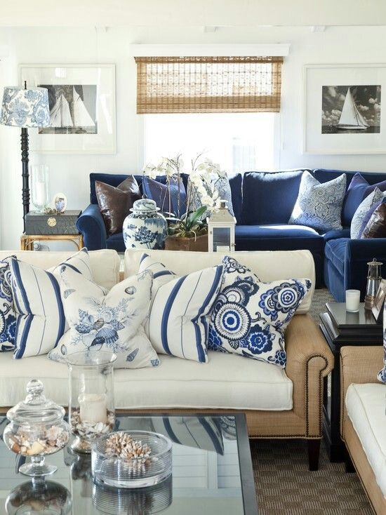 23 Things Only A Designer Will Tell You Blue White Living Room