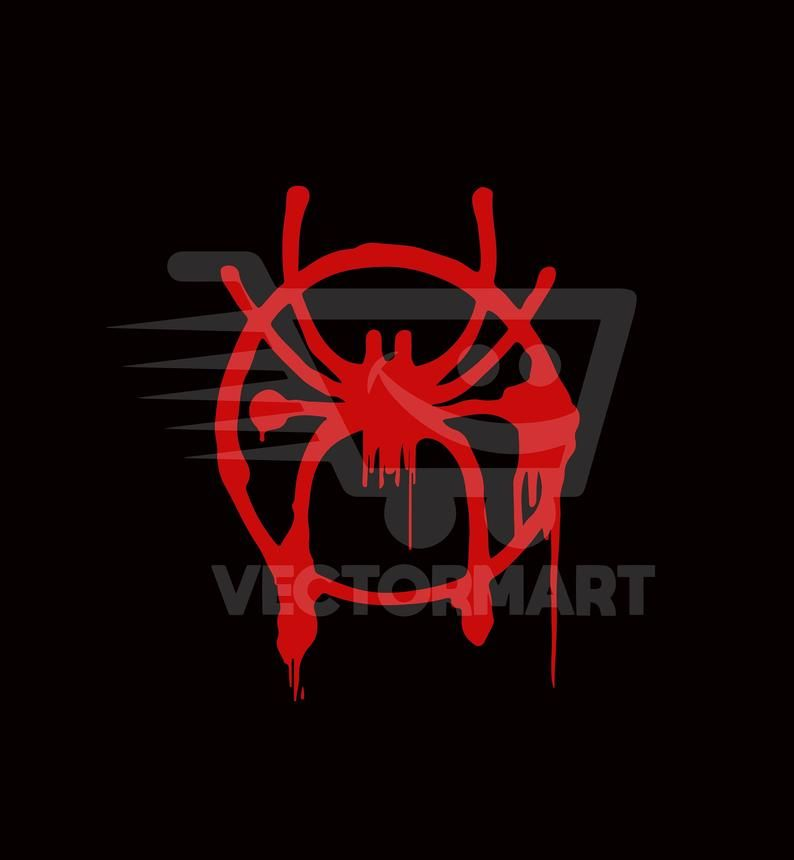 Miles Morales Spider Spray Paint Svg Pdf Eps Png Vector Etsy Spider Spray Svg Vector Images
