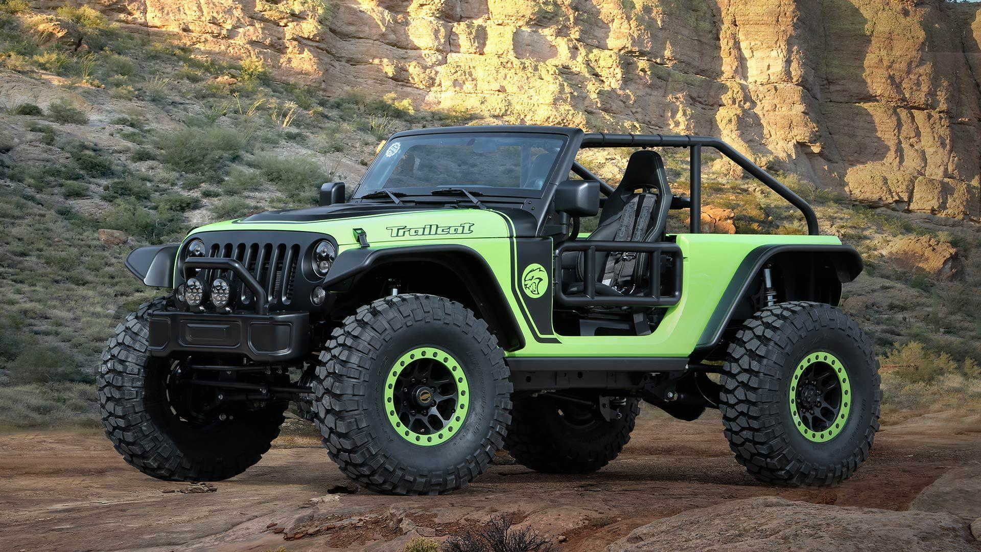 Jeep Wrangler Trailcat Has Hellcat Engine Viper Seats Manual
