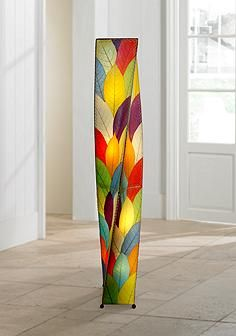 Eangee twist multi color cocoa leaves giant tower floor lamp stuff eangee twist multi color cocoa leaves giant tower floor lamp aloadofball Image collections