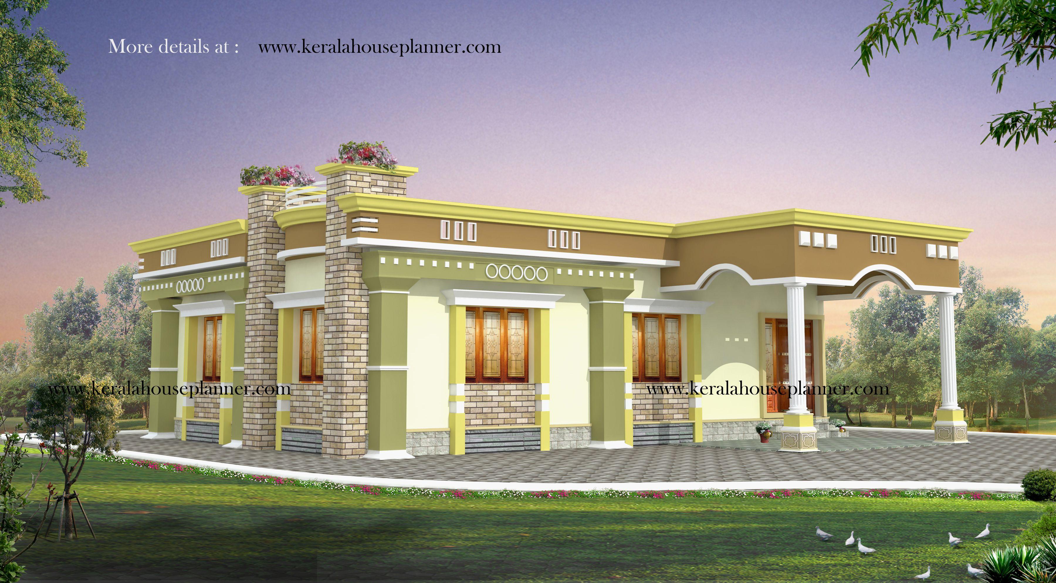 Elevation designs single villa for 2bhk front elevation bracioroom - House Designs Single Floor Front Elevation Indian House Designs Single Small Kerala House Elevation Elevation