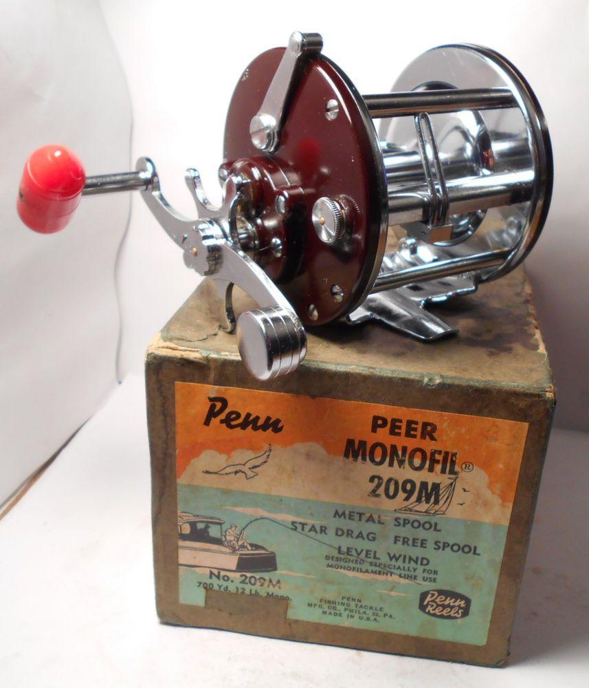Nice Vintage Penn Reels Peer 209 Conventional Fishing Reel Box