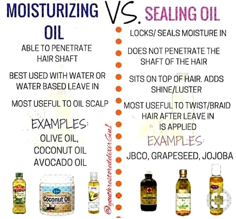 Tuesdays Hair Tip! Natural Oils are great ingredients for healthy hair. Here are some benefits of