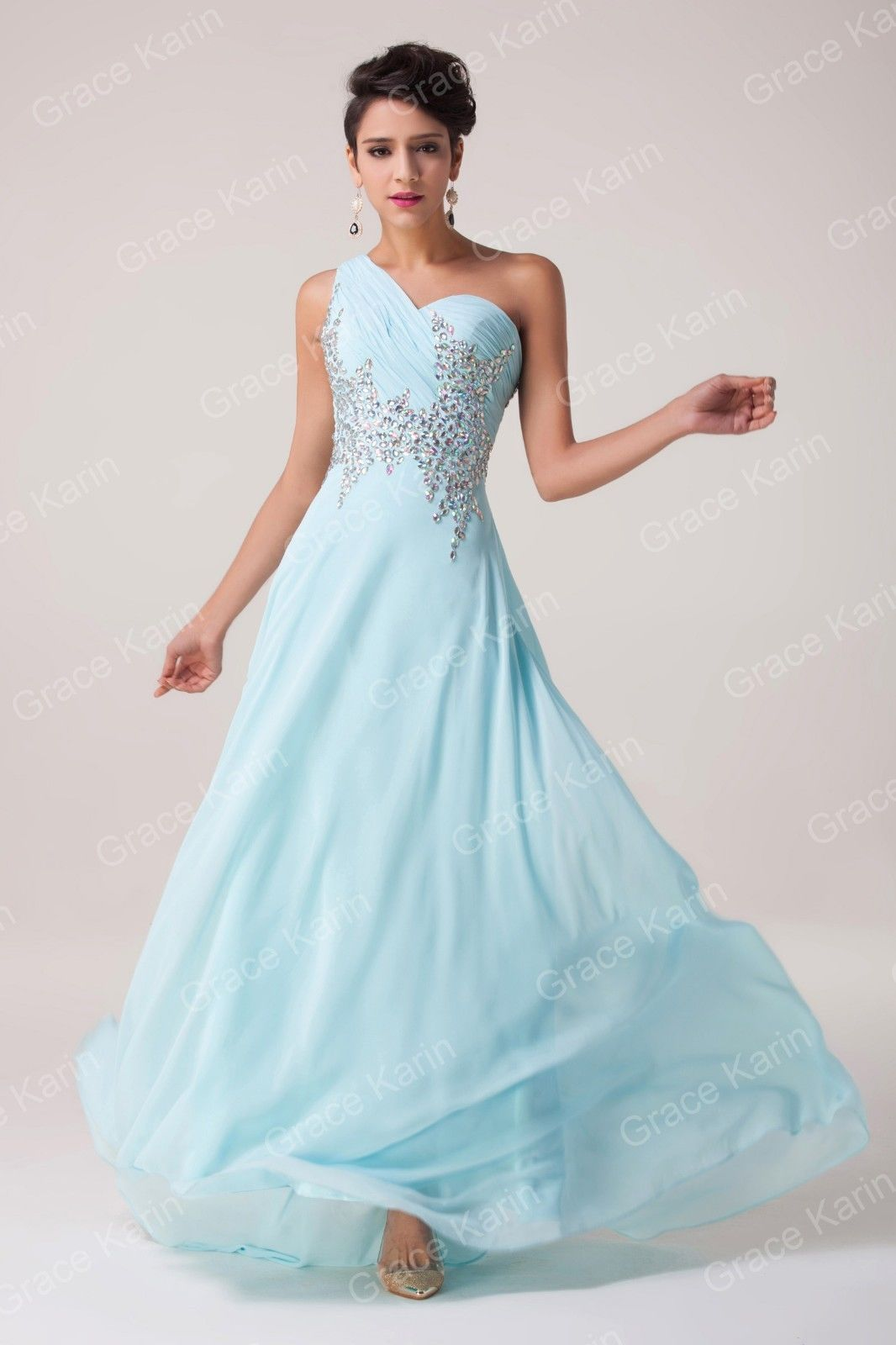 2015 Pop Long Beaded Formal Evening Party Gown Prom Bridesmaid ...