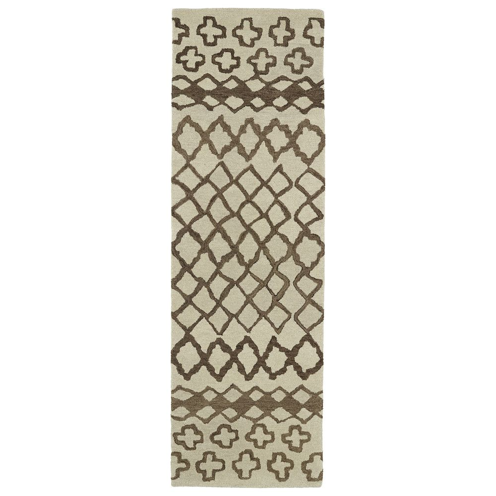 Hand Tufted Utopia Prints Brown Wool Rug 3 X 10 By Ay Home