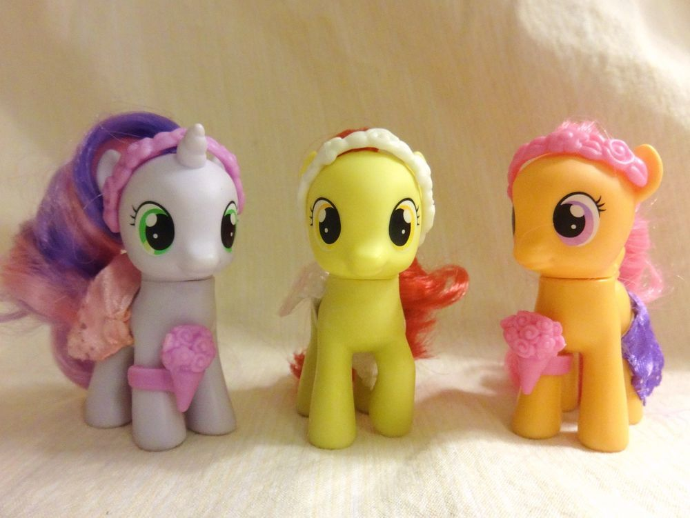 My Little Pony Friendship Is Magic Wedding Flower Fillies Set Hasbro