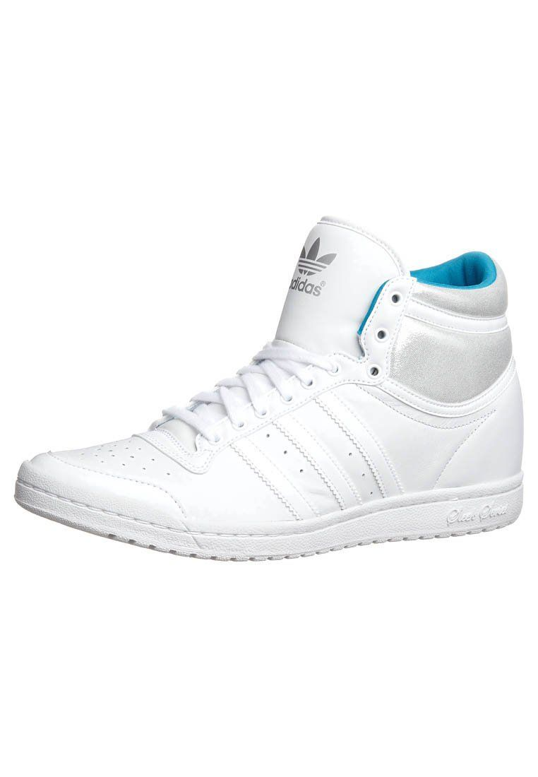 TOP TEN HI SLEEK HEEL High top trainers running white