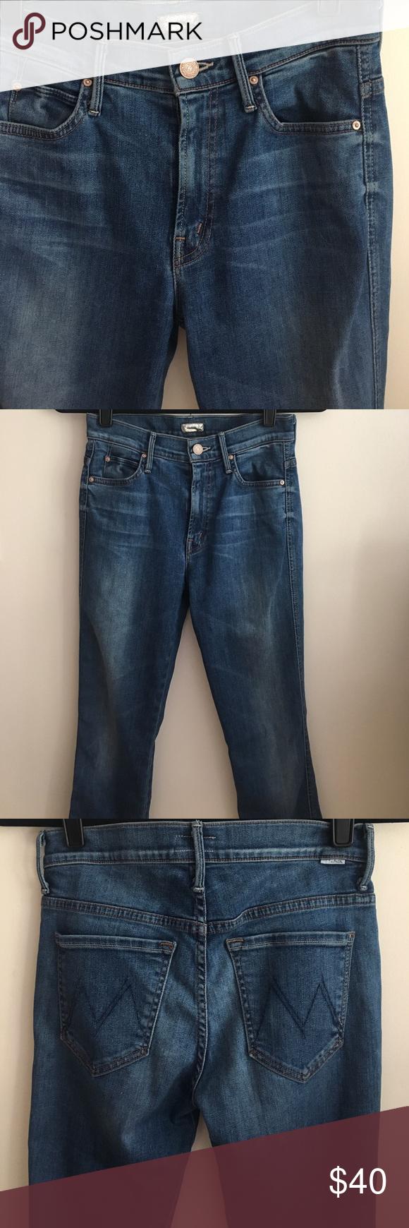 7638630f5138 Mother High Waisted Straight Leg Rascal Jeans Mother Denim Medium wash (The Famous  Heroine)