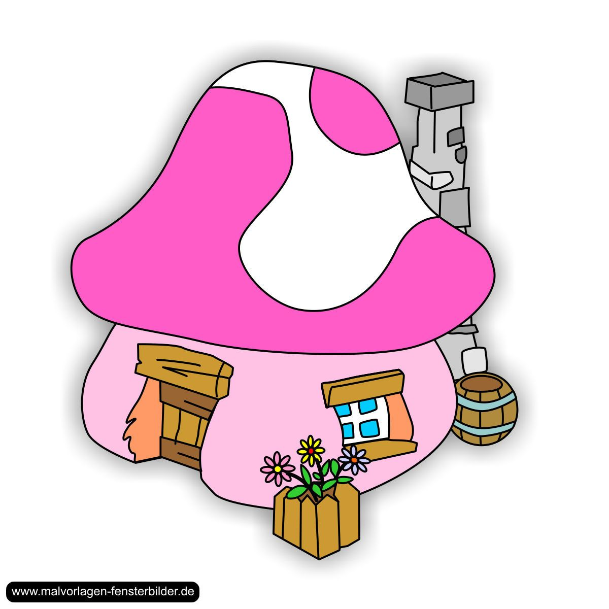 Schlumpfhaus-4.jpg (1200×1200)   Os Smurfs   Pinterest   Schlümpfe ...