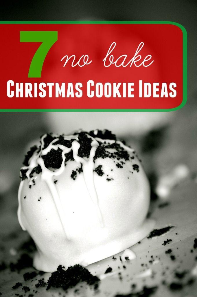7 No Bake Christmas Cookies Food Pinterest Cookies, Christmas