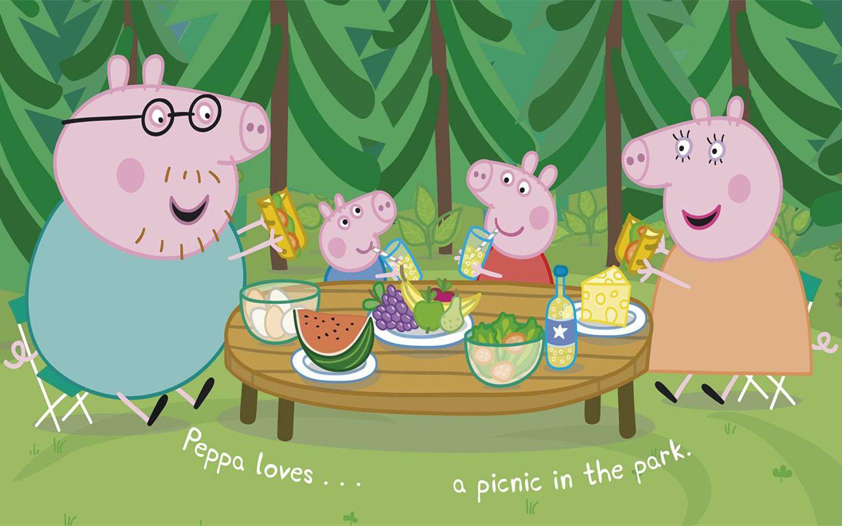 Cartoon Peppa Pig Wallpaper Peppa pig wallpaper, Pig