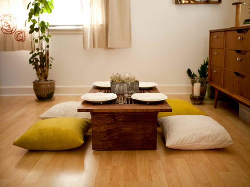 Flooring Ideas For Living Room India Accent Wall Tile Delightful Japanese Style Low Dining Table Awesome ...