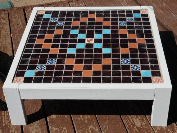 Outdoor Scrabble Table From Etsy Outdoor Scrabble Coffee Table Centerpieces Mosaic Table Top