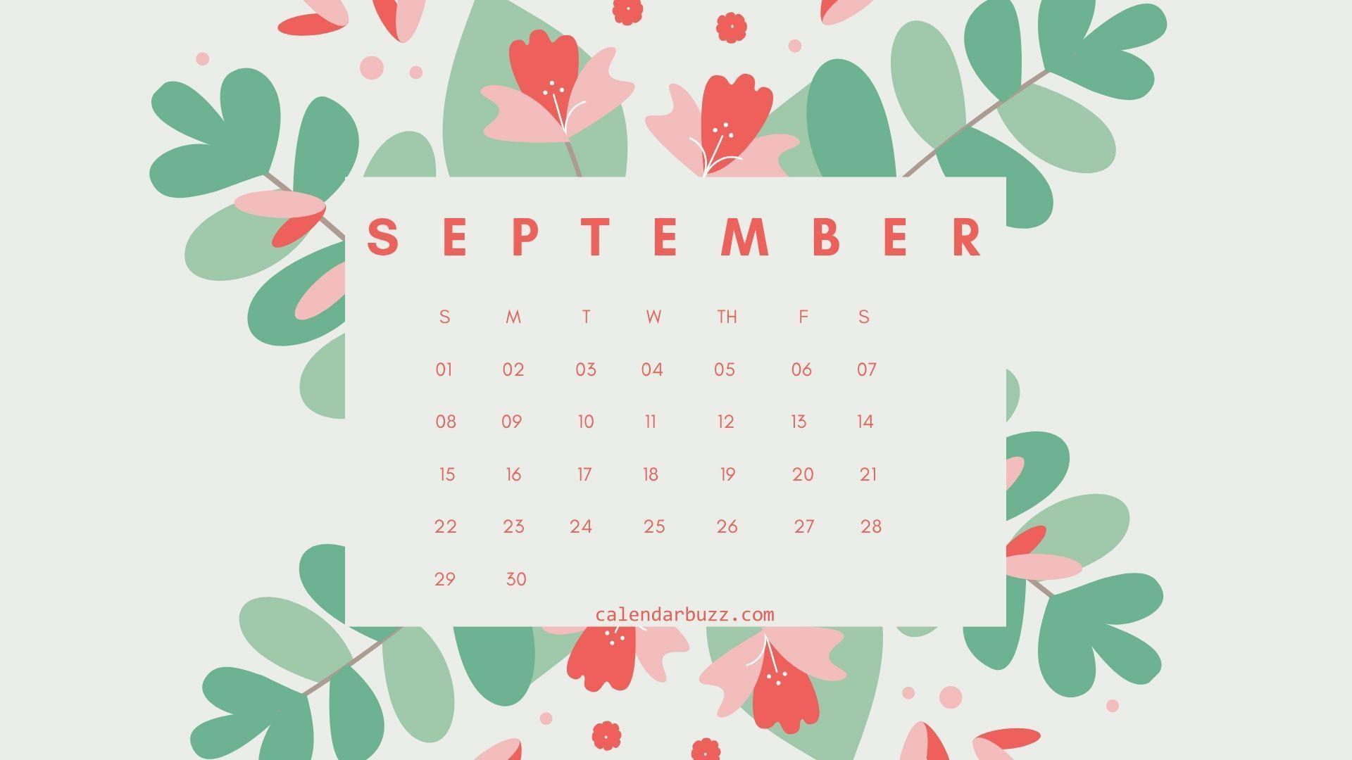 September 2019 Flower Calendar Wallpaper 2019 Calendars In
