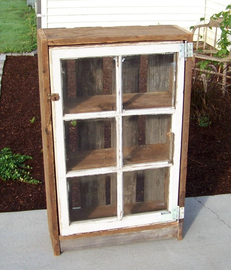 DIY Ideas for Old Window cabinets