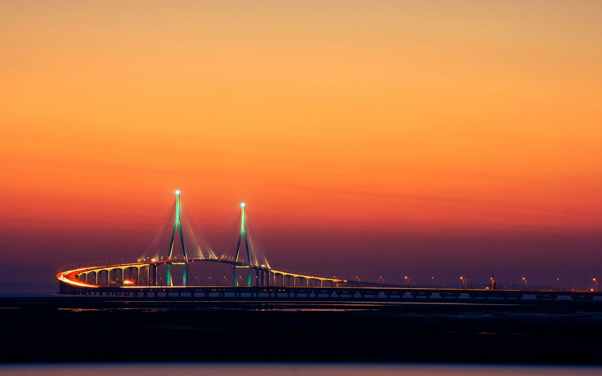 Ultra HD incheon bridge sout korea