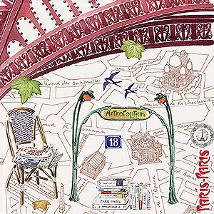 Gien Paris Paris Small Square Plate | Gracious Home | Product