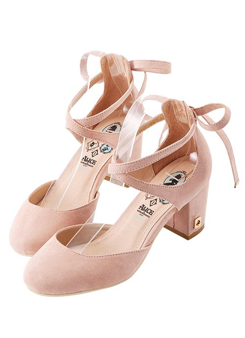 Grace gift 官方購物網站 - 愛麗絲交叉後綁帶跟鞋