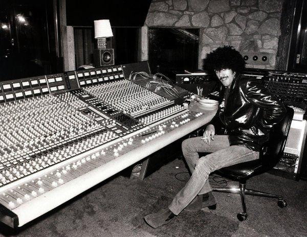 Phil Lynott in the studio.
