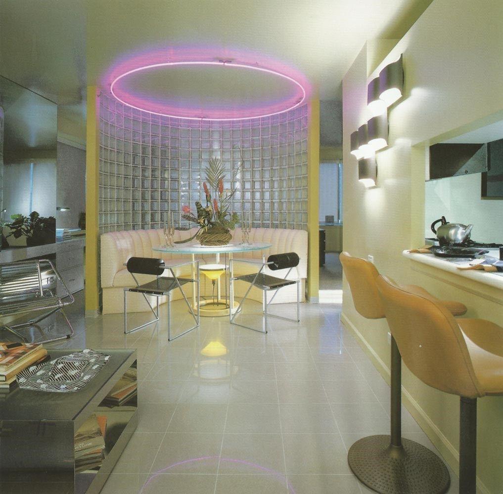 Neon retro interior design   ideas trends also decor rh pinterest