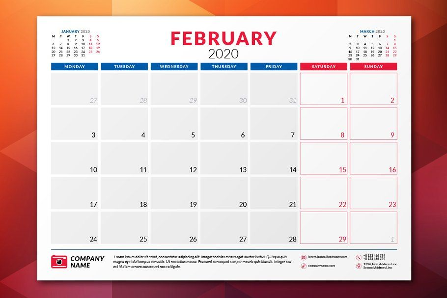 Monthly Planner 2020
