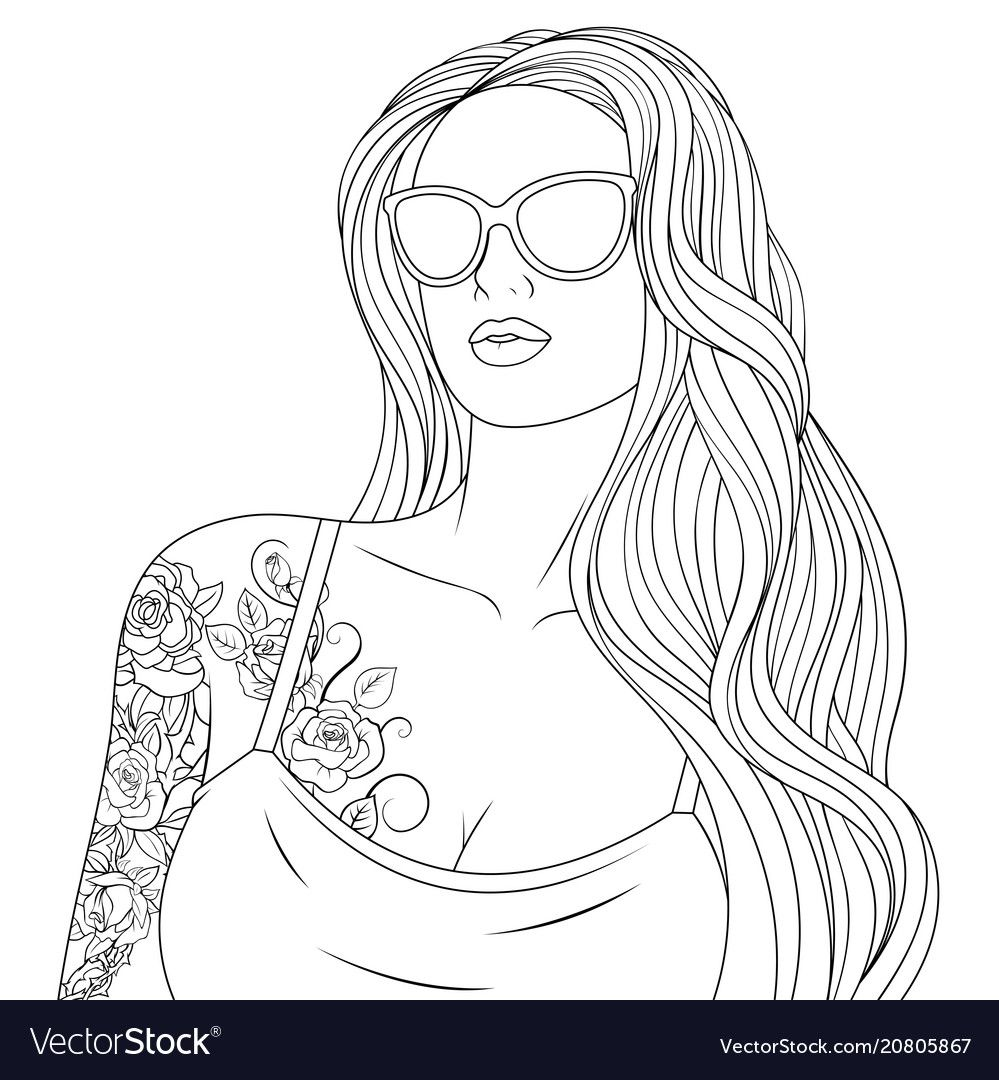 Vector Illustration Beautiful Girl Coloring On White Background Download A Free Preview Or High Cute Coloring Pages Coloring Pages For Girls Coloring Pages