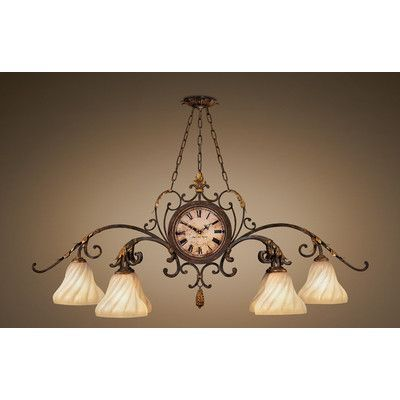 Fine Art Lamps Castile 6 Light Kitchen Island Pendant