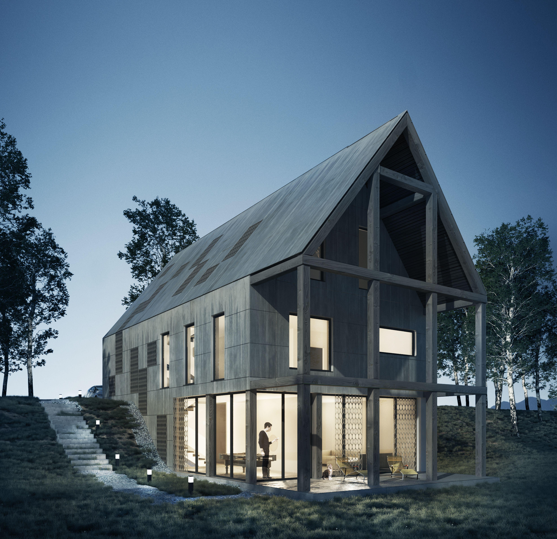 Contemporary Country House Exterior Daako Studio Country Home