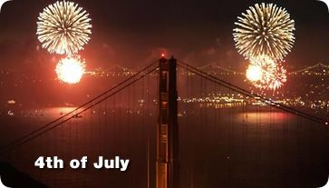 Fourth Of July Independence Day Pier 39 And Jack London Square Golden Gate Bridge City Lights Bridge