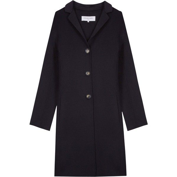 Gerard Darel Carli Coat, Blue (€420) ❤ liked on Polyvore featuring outerwear