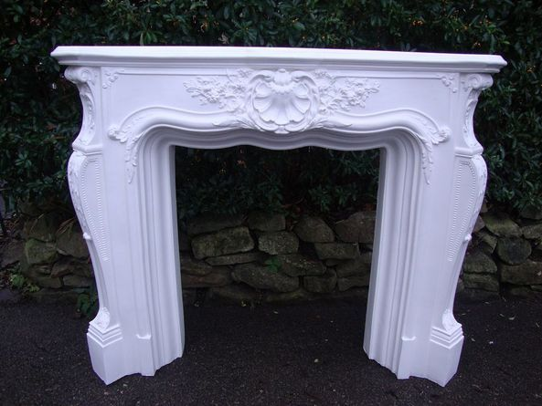 Country French Fireplace Surrounds Grand Louis Plaster Fire
