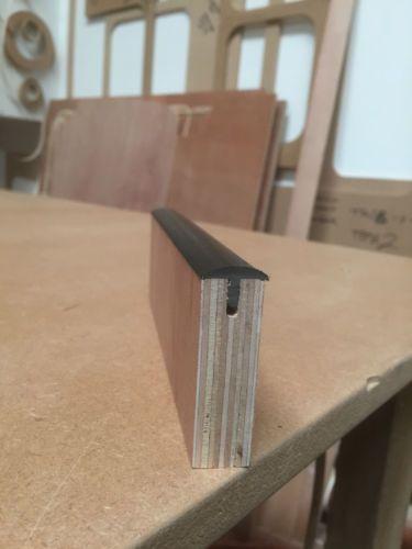 18mm T Trim Black Curved 10 Metre Roll Furniture Knock On Edging Vw Campervan Diner Table 10 Things Black Curves