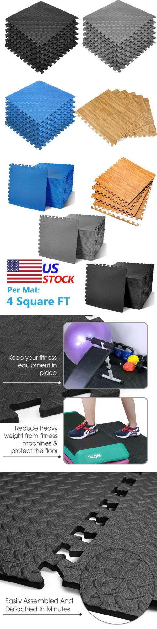 Exercise Mats 44079: Lot 24-1200 Sq Ft Interlocking Eva Foam Floor Puzzle Work Gym Mats Puzzle Mat -> BUY IT NOW ONLY: $569.95 on eBay!
