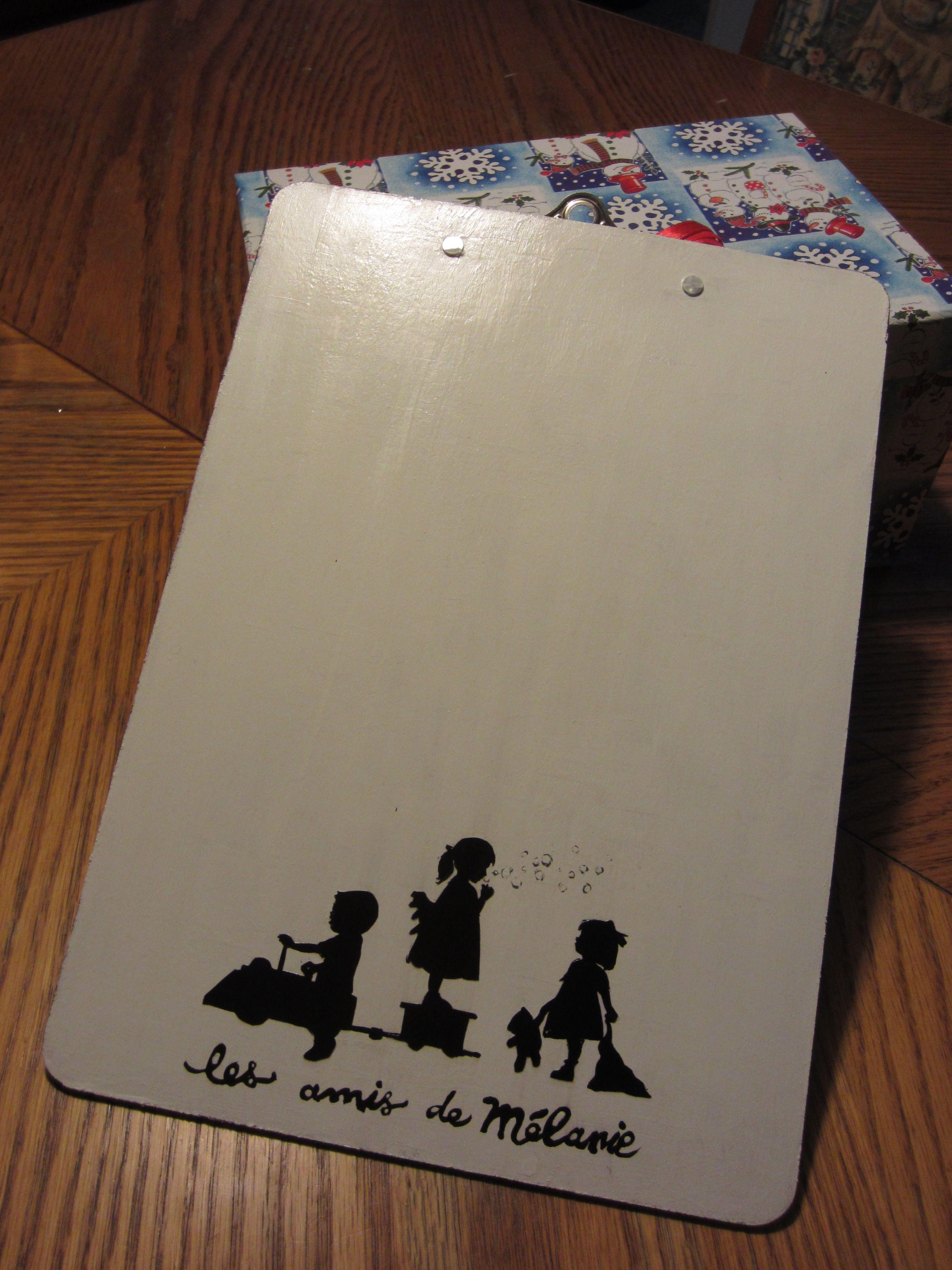 Planche à pince personnalisée cadeau pour une éducatrice cadeaux