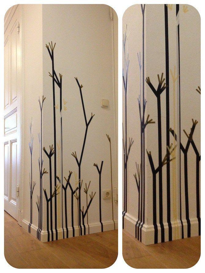 Wandgestaltung Mit Klebeband live on tape 3 | wandschmuck, washi tape und pflanzen