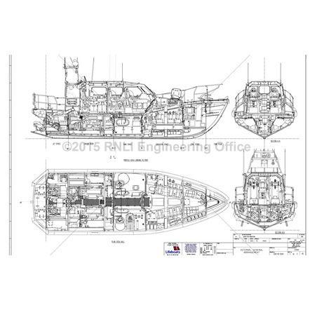 Shannon Lifeboat Drawings Rnli Model Making Plans Uk