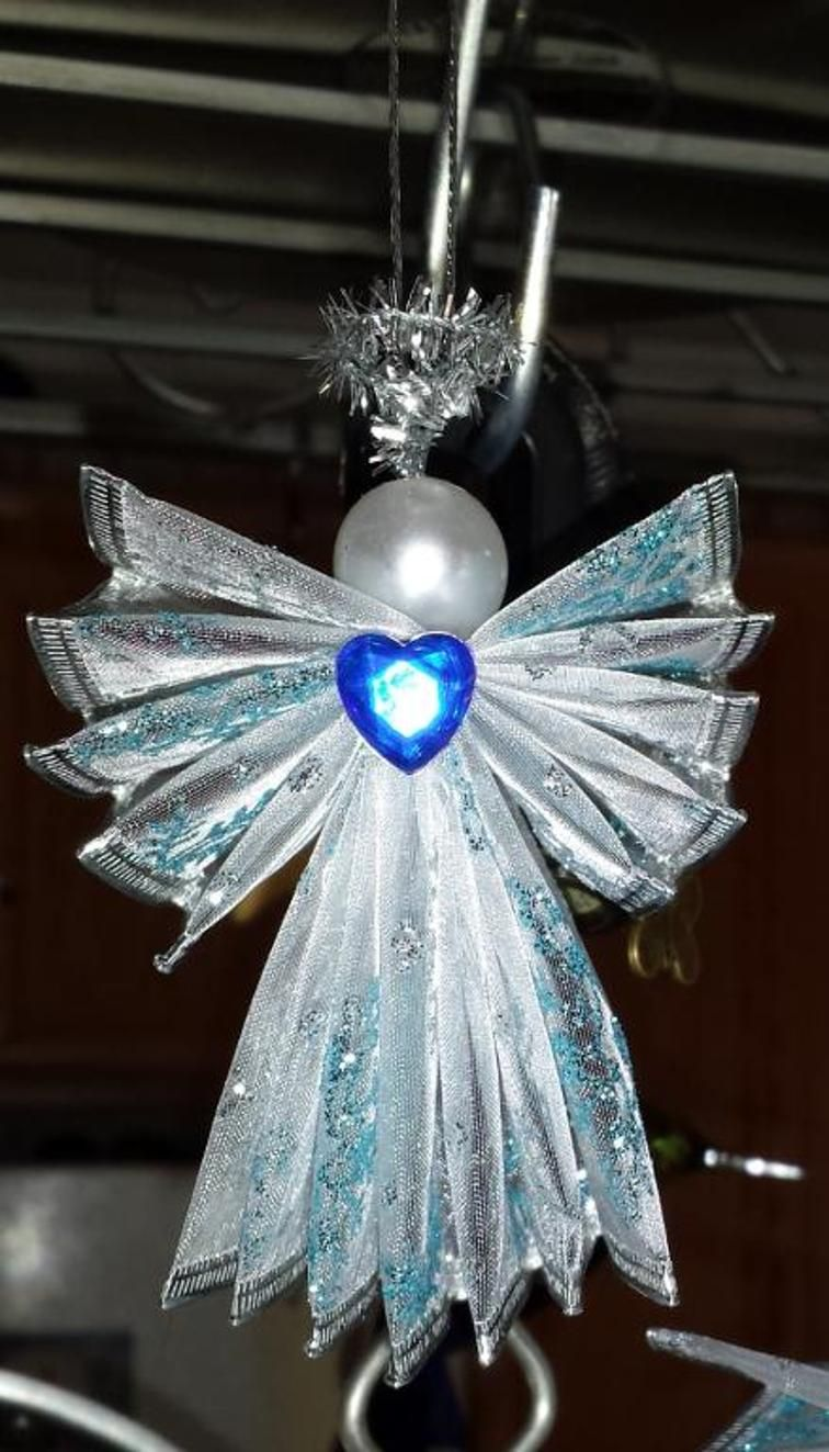 WIRED RIBBON ANGEL | Craftsy | Christmas Ideas/Decor | Pinterest ...