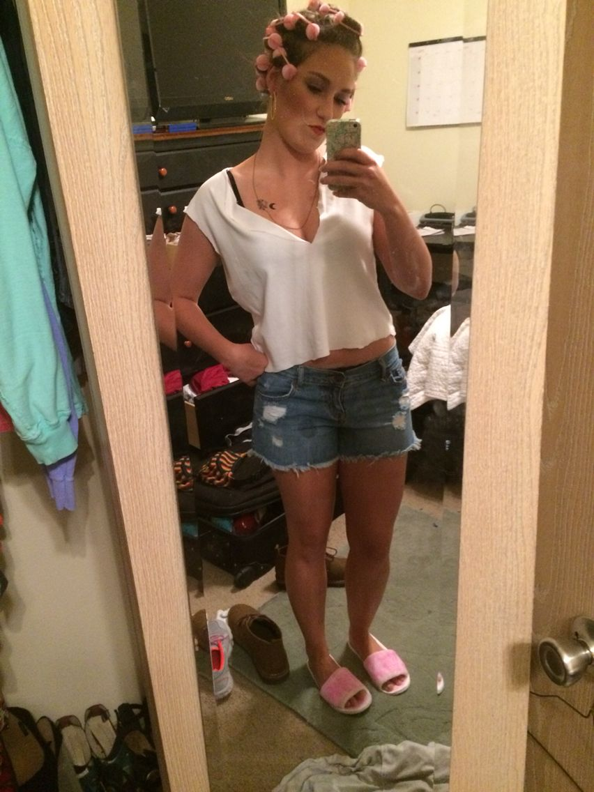 White trash bash outfit. All bought at goodwill and the dollar store ...
