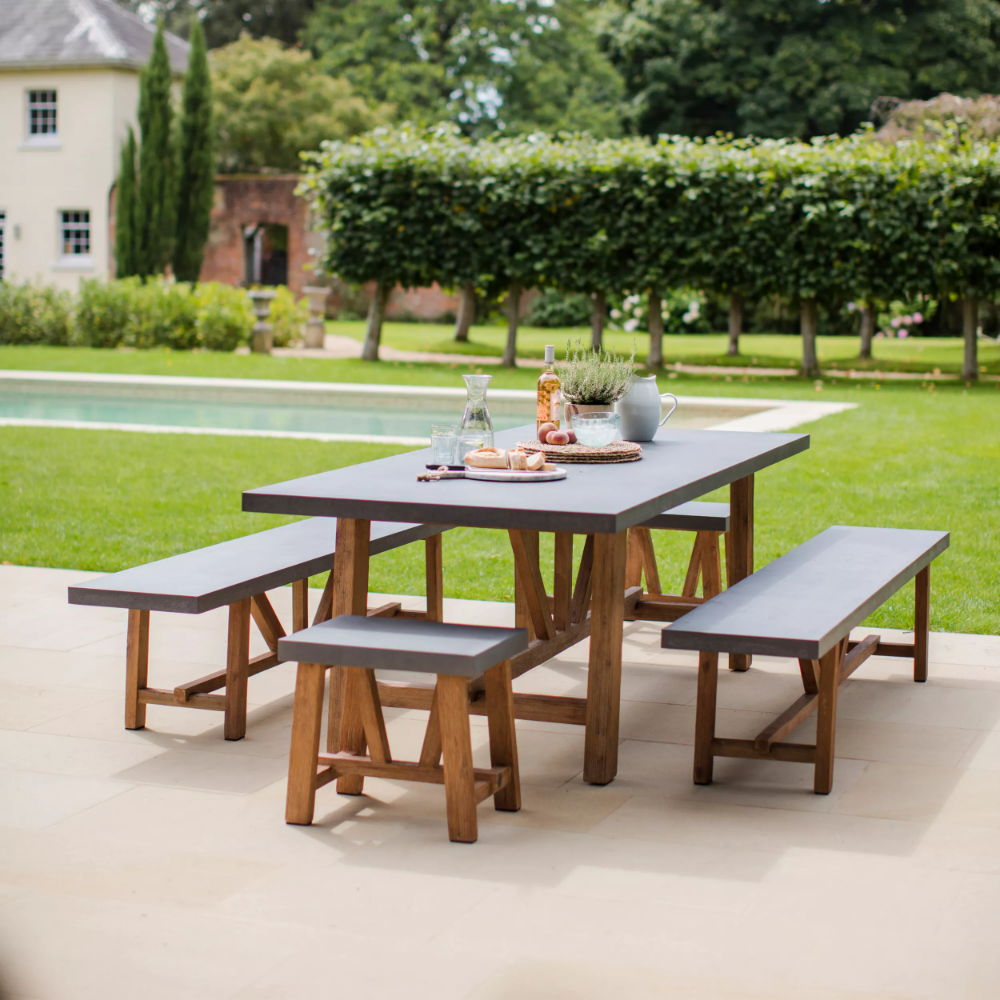 Chilson Table And Bench Set Wooden Garden Furniture Table And Bench Set Garden Dining Set