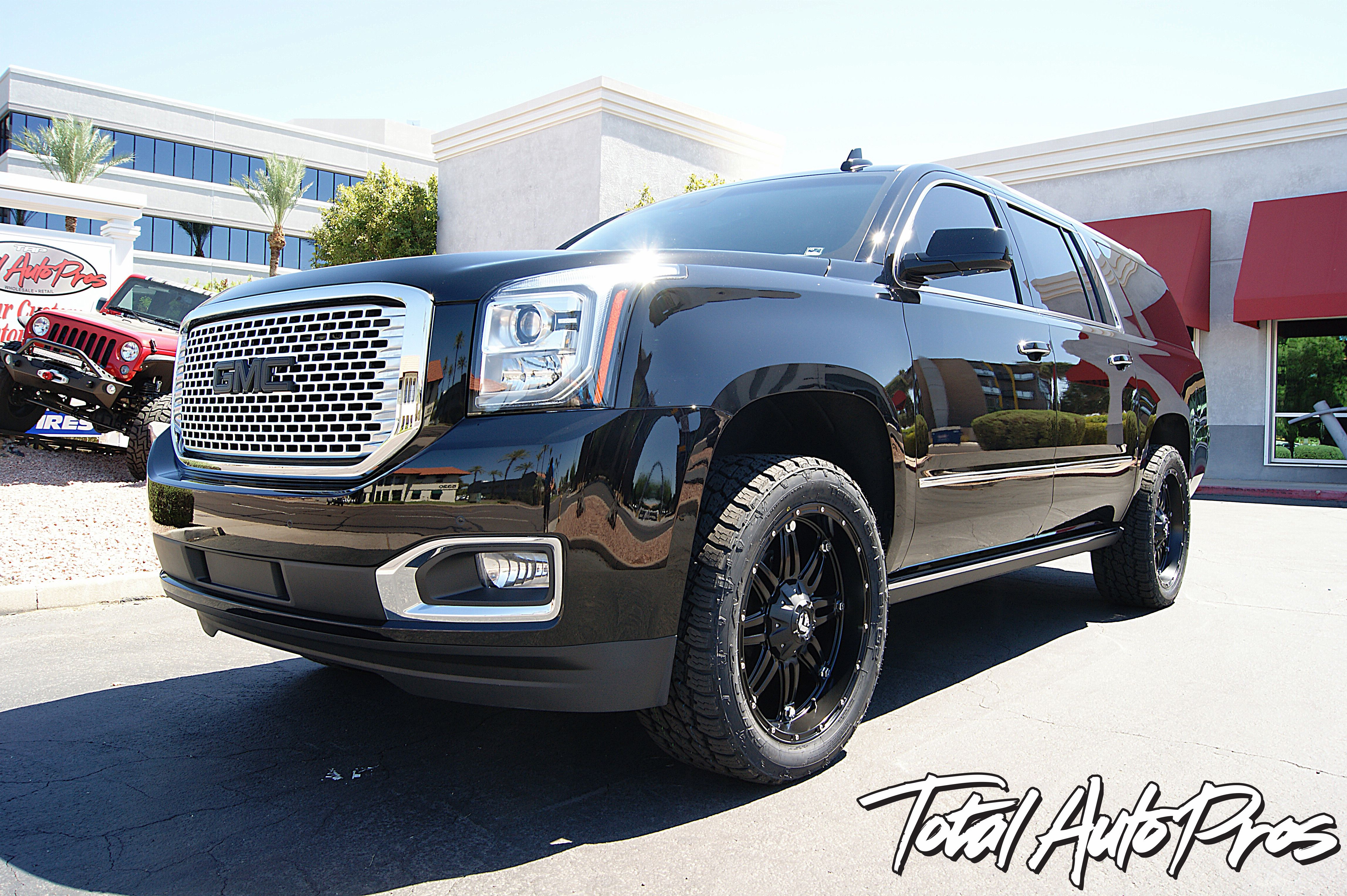 2016 Gmc Yukon Denali Xl 22x9 Fuel Offroad Hostage Black 19