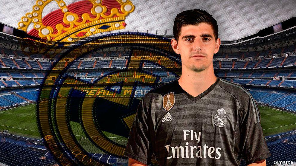 Ya Es Oficial Thibaut Courtois Vestirá La Camiseta Del Real Madrid Las Próximas Seis Temporadas Según Anunció El Conjunto Thibaut Courtois Real Madrid Madrid