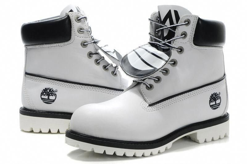 Mens Timberland High Top Boots White