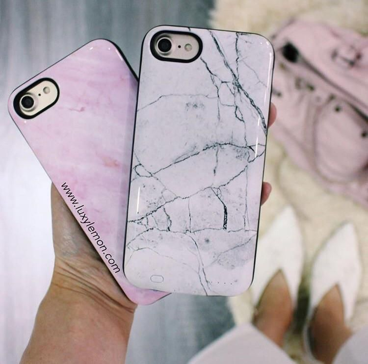 finest selection 14d8b 8a4fc Pink Marble Battery Power Phone Case in 2019 | phone | Phone cases ...