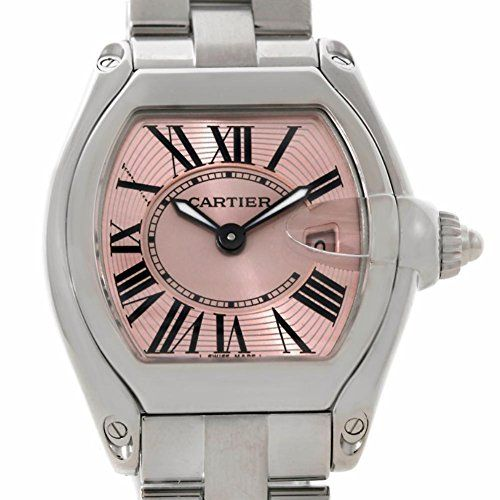 Women's Certified Pre-Owned Watches - Cartier Roadster swissquartz pink womens Watch W62017V3 Certified Preowned >>> Be sure to check out this awesome product.