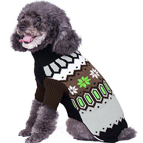 Blueberry Pet Nordic Fair Isle Unisex Dog Sweater, Back L... https ...